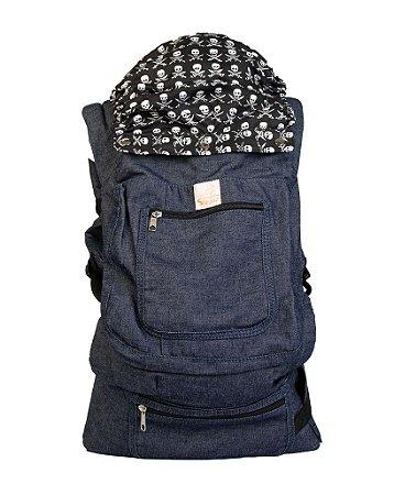 ErgoSlingaê Toddler Jeans Caveirinha (A partir de 22 meses)