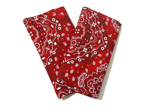 Kit Protetor de alças de ErgoSlingaê Bandana Vermelha (do Jeans)