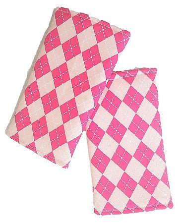 KIt Protetor de alças de ErgoSlingaê Tricô Rosa (do Jeans)