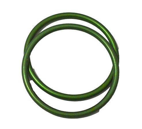 Argola avulsa de alumínio anodizado, cor Verde