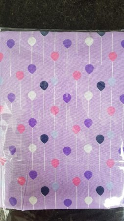 kit lençol de berço Purple Baloon