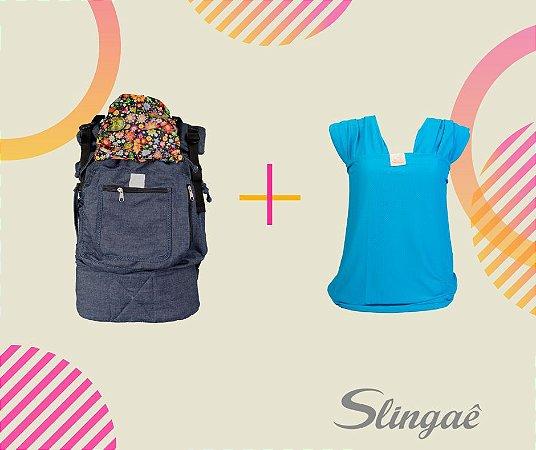 Kit Promo RN2: Wrap Sling Dryfit + ErgoSlingaê Evolutivo (Cores a escolher)