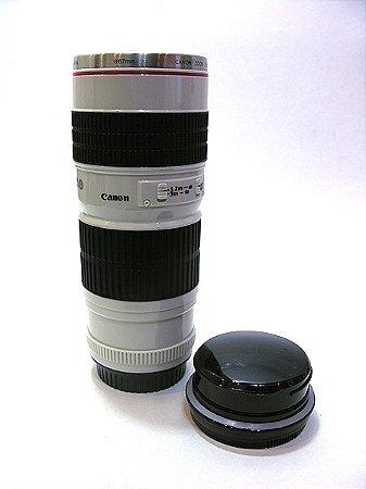 Caneca térmica lente de câmera