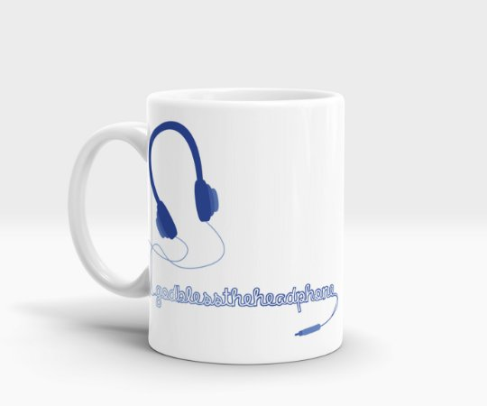 Caneca Headphone - God Bless the Headphone