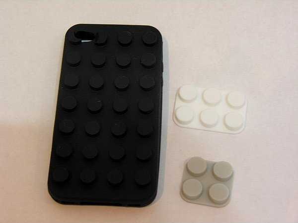 Case Lego de silicone para iPhone 4