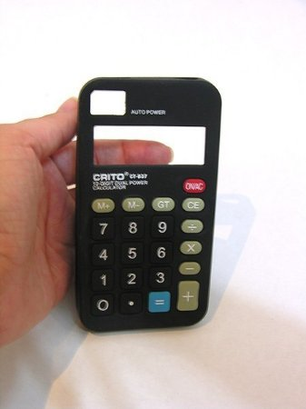 Case Calculadora de silicone para iPhone 4