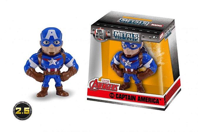 Boneco Capitão América Marvel Avengers Metal DIE CAST Original