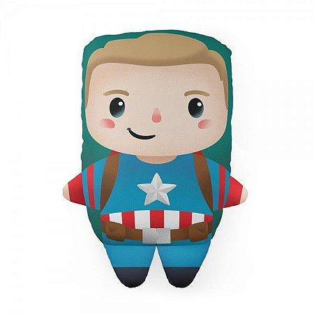 Almofada Decorativa Marvel Capitão América Avengers Temática Para Quarto Sala