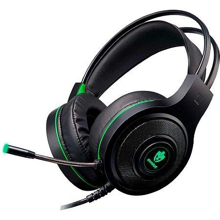 Headset Gamer EVOLUT TEMIS EG-301GR Verde Fone de Ouvido