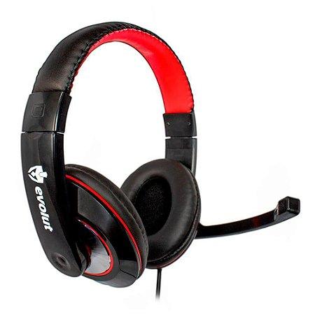 Headset Gamer EVOLUT THARDUS EG-302RD PC/PS4/XBOX ONE Fone de Ouvido