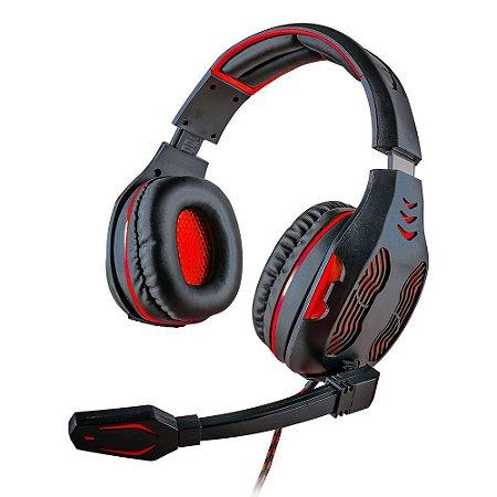 Headset Gamer MYMAX Centauro USB Vermelho Fone de Ouvido