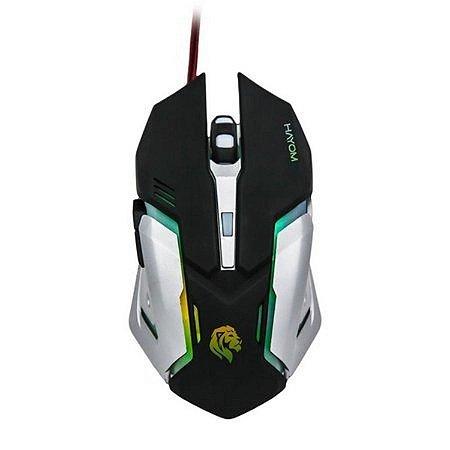 Mouse Gamer HAYOM MU2906 RGB 2400 DPI 6 Botões PRO