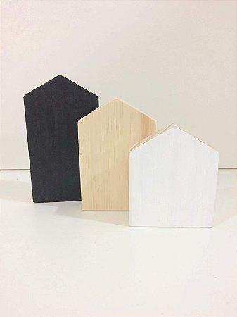 Trio Casinhas em madeira