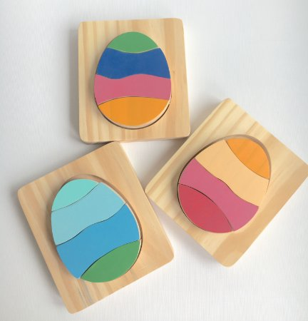 Ovo de Páscoa Quebra-cabeça em madeira