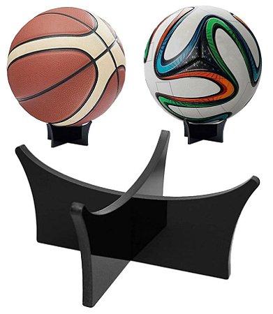 Suporte de Bola Portátil em Acrílico na cor preta