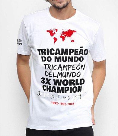 Camiseta Masculina Tricampeão Mundial Torcida Tricolor