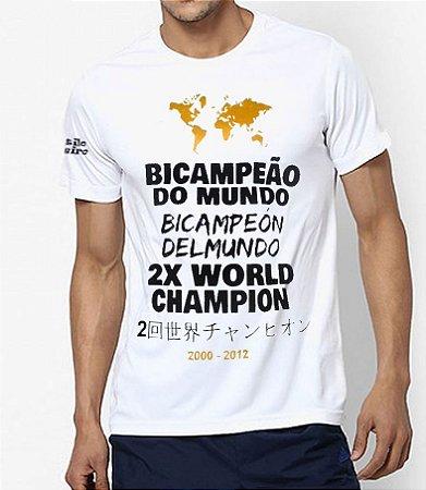 Camiseta Branca com detalhes na cor Ouro Torcida Alvinegra SCP