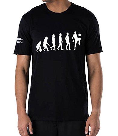 Camiseta Masculina Preta Evolução da Espécie Humana