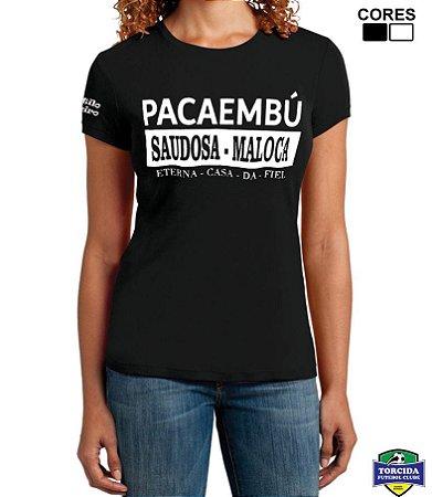 Camiseta Feminina Torcida Alvinegra Esporte Clube Corinthians