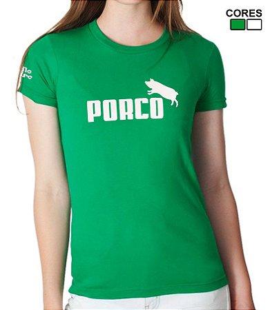 Camiseta Feminina Torcida Alviverde PORCO