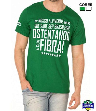 Camiseta Masculina Hino do Palmeiras Estilo Boleiro