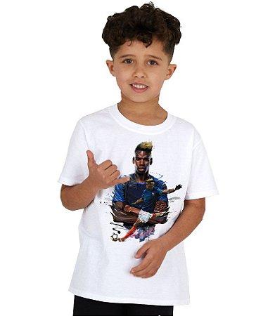 Camiseta Infantil - Pogba - Seleção Francesa