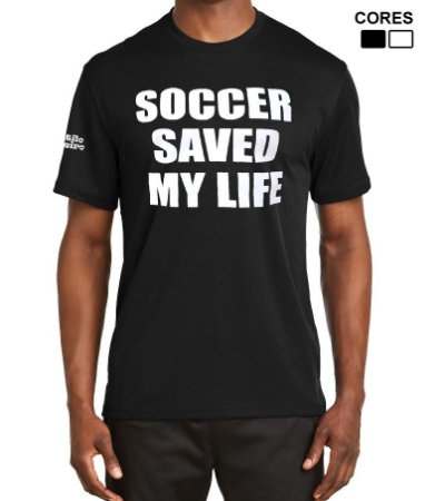 Camiseta Masculina Soccer Saved My Life Estilo Boleiro