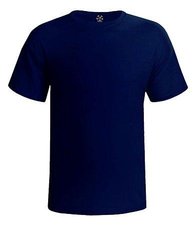 Camiseta Masculina Lisa Estilo Boleiro cor azul marinho