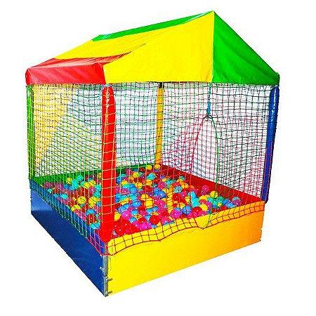 PISCINA casinha de bolas 1,50X1,50M COM 1.000 BOLINHAS