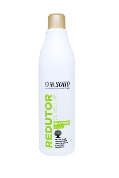 Shampoo Profissional Redutor de Volume Anti-Resíduo com óleo de Argan e Proteína do Arroz Soho Guenki 1litro