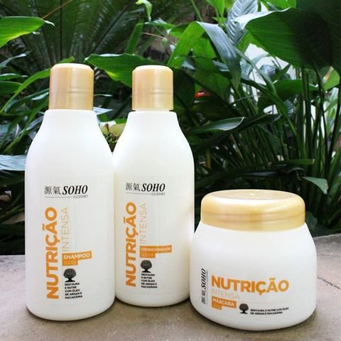 Kit Nutrição Soho Guenki para Hidratação Capilar - Shampoo 300ml, Condicionador 300ml e Máscara 250g