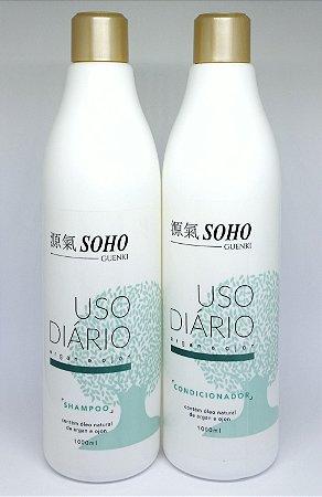 Shampoo e Condicionador Soho Guenki de uso diário 1Litro