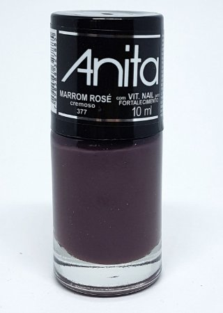 Esmalte Cremoso Anita Marrom Rose 10ml
