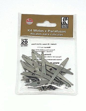 Kit Molas e Parafusos de Alicates de Manicure com 20 unidades