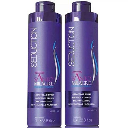 Kit Shampoo e Condicionador Santo Milagre Seduction 1 Litro