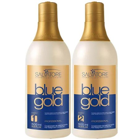 Progressiva sem Formol Salvatore Blue Gold 500ml + Máscara