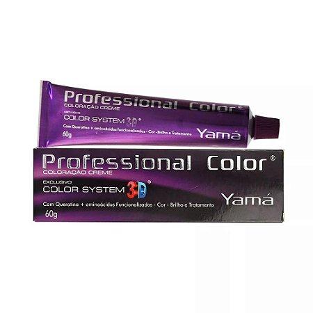 Tintura Profissional Color 3D Yamá 9.1 - Louro Muito Claro Acinzentado