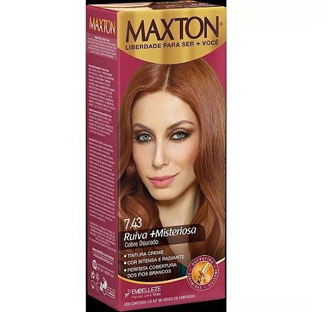 Tintura Embelleze Maxton 7.43 Ruivo Cobre Médio