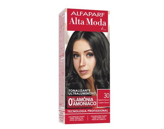 Tonalizante AlfaParf Alta Moda 30 Castanho Escuro