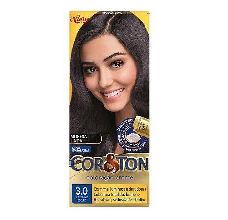Tintura Cor &Ton 3.0 Castanho Escuro