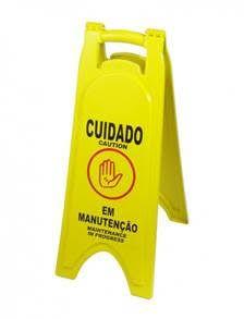 Placa dobrável sinalizadora de piso