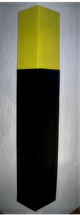 Protetor de Colunas Preto e Amarelo 70x20cm com 10mm