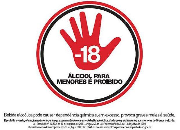 Placa referente à Lei 14592 - Alumínio