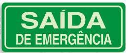 Saída de Emergência - Letras Grandes