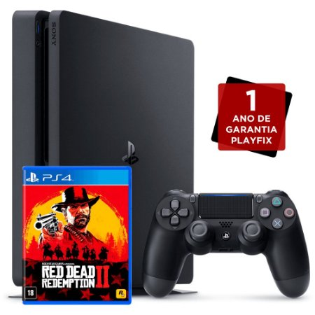 Console PlayStation 4 Slim 500GB + Red Dead Redemption 2 - Sony