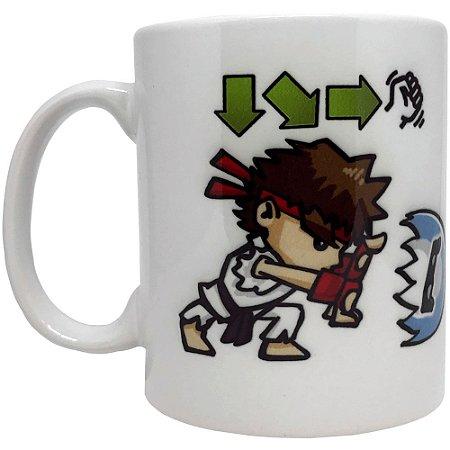 Caneca Street Fighter - Ryu - Hadouken