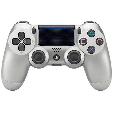 Controle Sony Dualshock 4 Prata sem fio (Com led frontal) - PS4