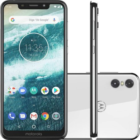 Celular Motorola Moto One 64GB - Branco
