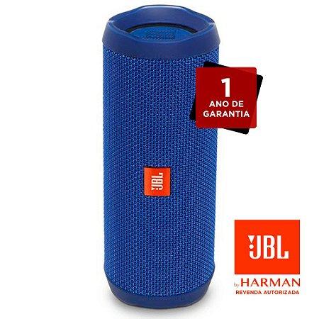 Caixa de Som Bluetooth JBL Flip4 - Azul