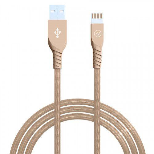 Cabo USB Lightning MFI 1,2m iPhone/iPad Dourado - iWill